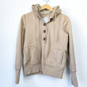 American Eagle Button Up Lined Hoodie